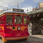 Carthay Circle Restaurant Buena Vista Street Disney's California Adventure Disneyland5 Red car trolley