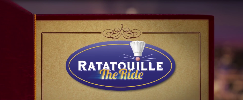 Disneyland Paris Ratatouille the ride walt disney studios logo