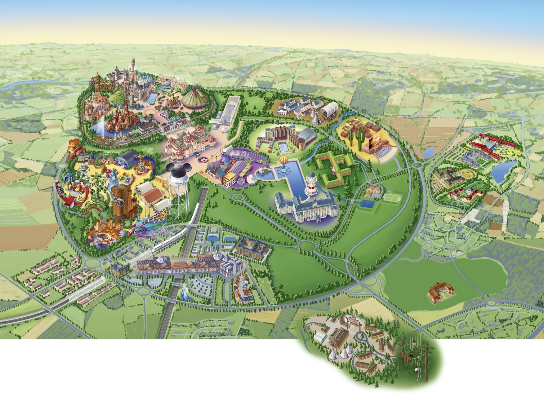 plan map Attraction Ratatouille The Adventure L'aventure totalement toquée de remy Disneyland Paris Walt Disney Studios 2014