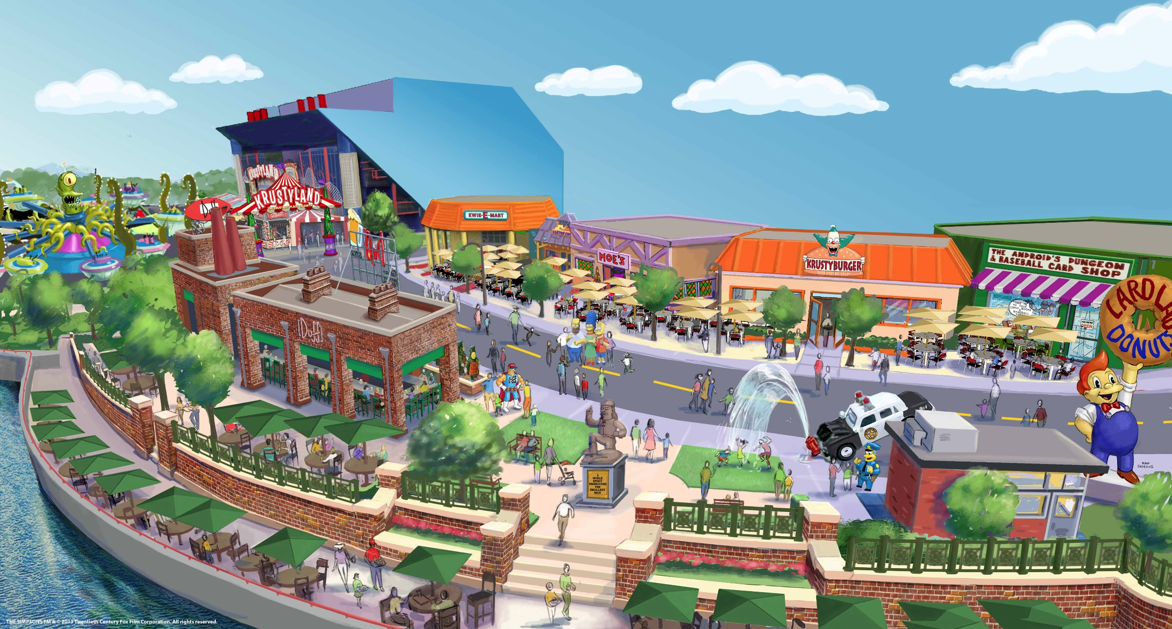 Simpsons theme park expantion universal studios orlando