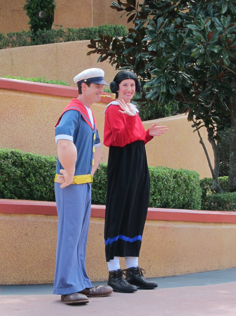 Universal orlando islands of adventure popeye olive characters