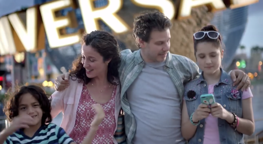 Universal Orlando and Apple latest TV commercials are oddly similar