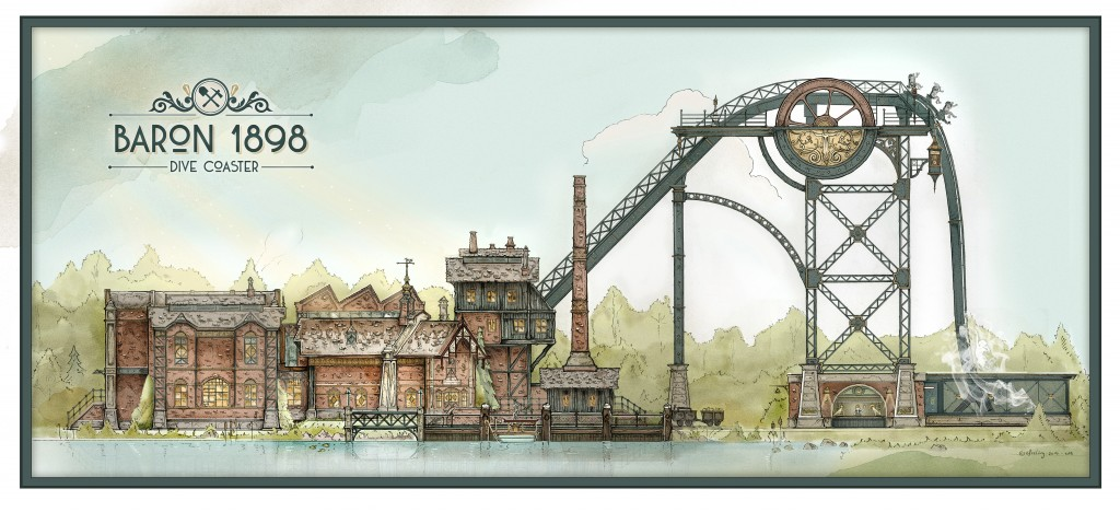 Efteling reveals Baron 1898 Dive Coaster