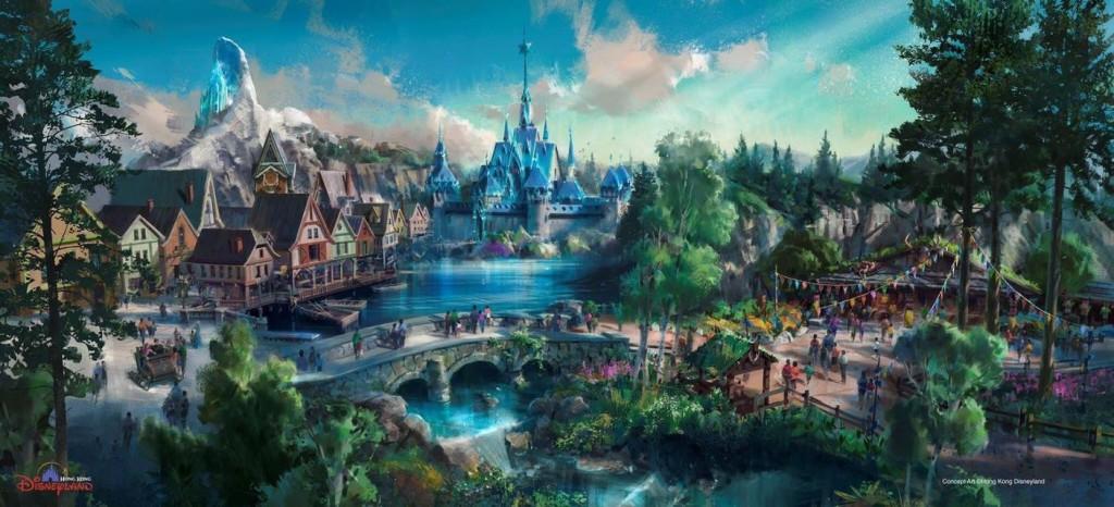 Concept art: Hong Kong Disneyland