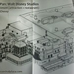 Ratatouille : l'aventure totalement toquée de remy attraction Disneyland Paris Walt Disney Studios construction concept art