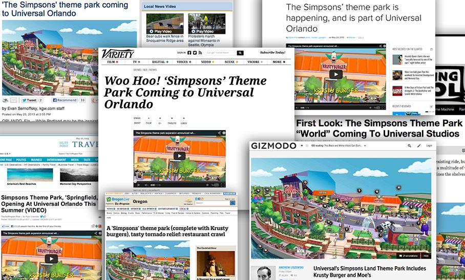 Simpsons theme park extention universal studios orlando press